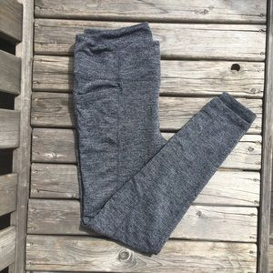 Athleta Chevron Tweed Stretch Knit Leggings